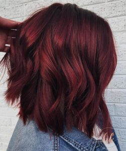 couleur wine hair tendance printemps 2018